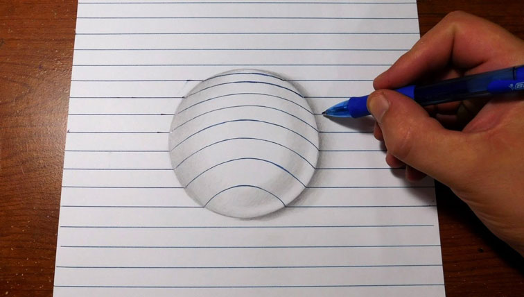 How To Draw Bubble On Paper 3D Art