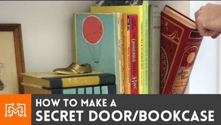 How To Make Bookcase Secret Door