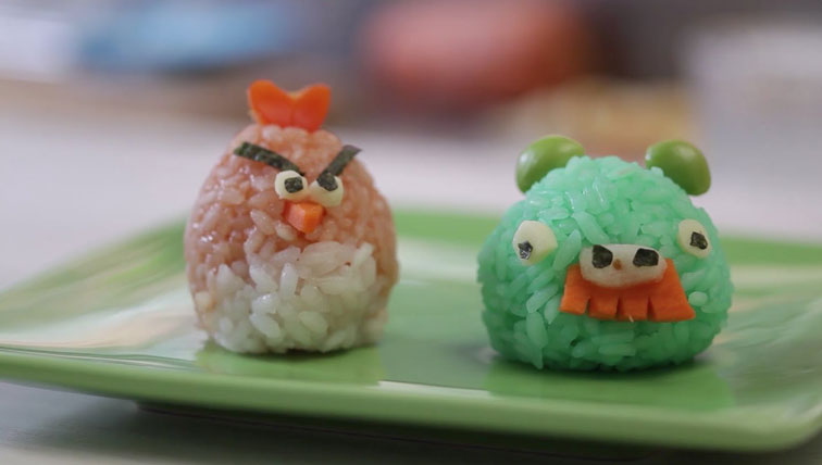 How To Make Cute Angry Birds Rice Balls