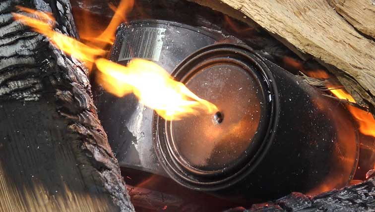 How To Easily Turn Wood Into Charcoal Using Cans
