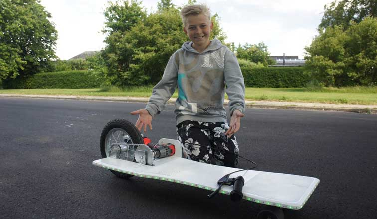 How To Make Electric Longboard From Old Kids' Bike