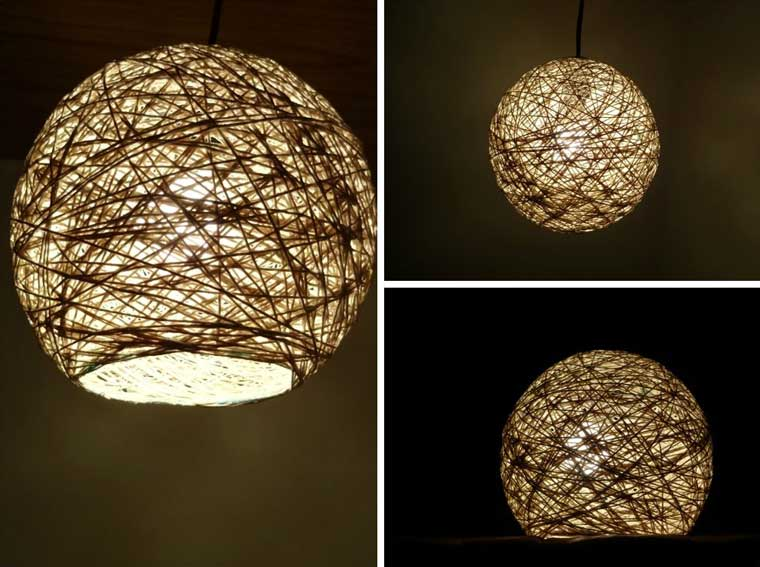 How To Make A Cool Lampshade From Yarn