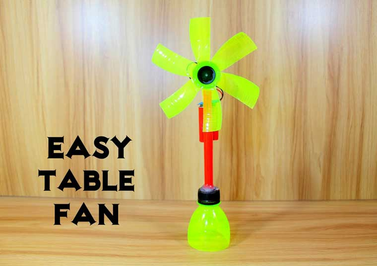 How To Make An Electric Table Fan Using Plastic Bottles