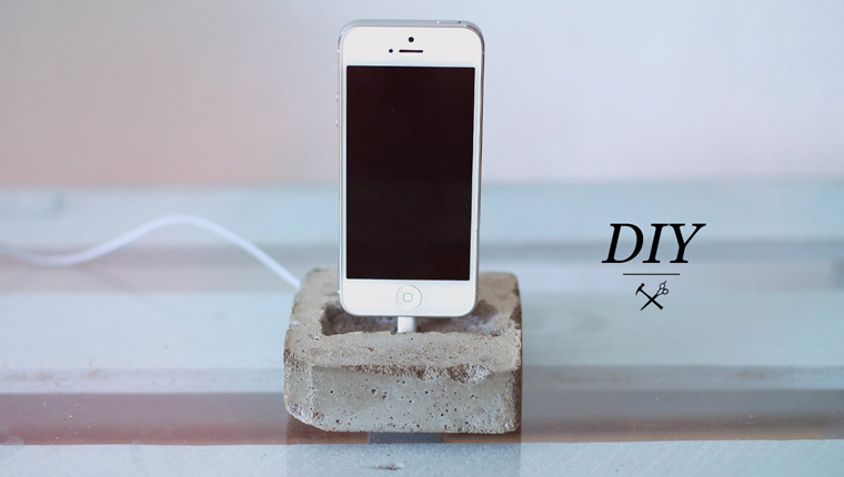How To Make Concrete Phone Dock