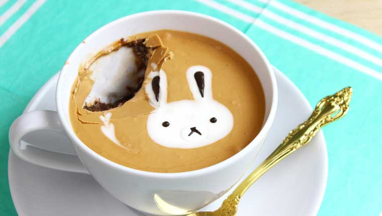 How To Make Latte Art Mug Cake