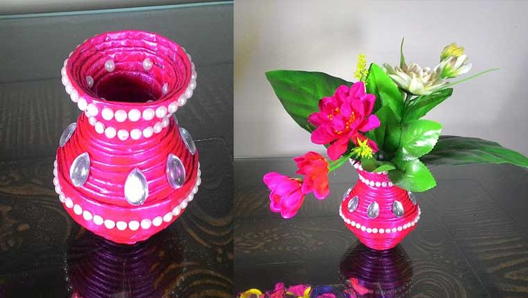 How to make newspaper flower vase pepes how tos how to make newspaper flower vase mightylinksfo