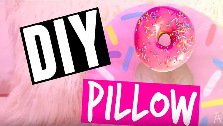 How To Make A No-Sew Donut Pillow