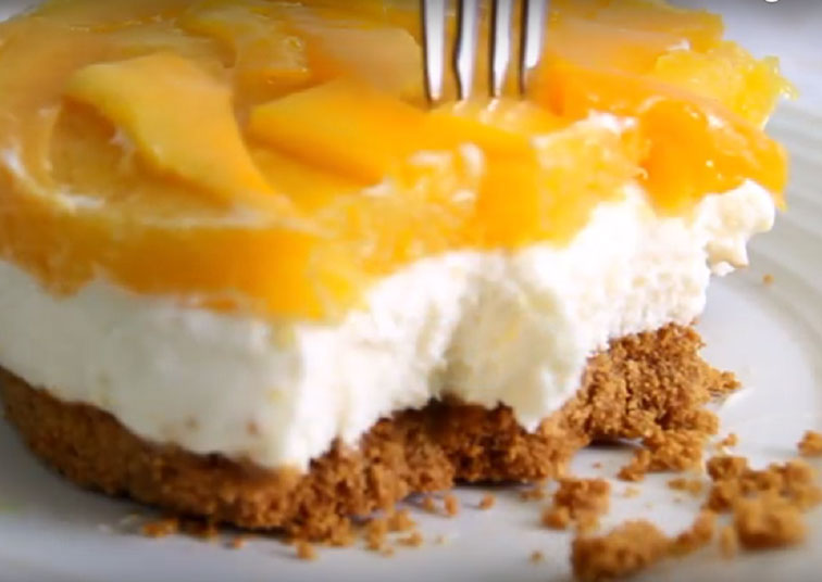How To Make A No Bake Mango Cheesecake